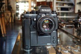 Nikon F3 HP + MD4 + Nikkor 50mm f/1.4 AIS