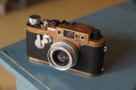 Leica IIIG Black paint, partly genuine