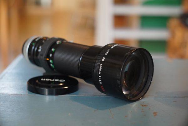 Canon lens FD 4.5 / 400mm SSC