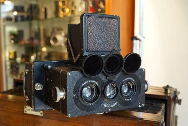 Francke & Heidecke Heidoscop stereo camera. 6X13 /Rollei
