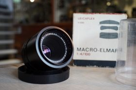 Leica Leitz Macro-Elmar 1:4 / 100. Bellows lens. Boxed