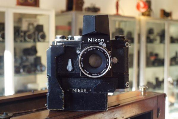Nikon F + Action finder + F36 motor + Nikkor 2/5cm