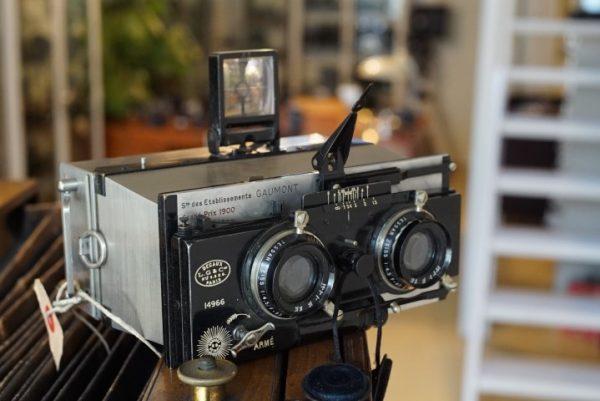 Gaumont Paris Stereo camera With Krauss Zeiss Tessar lenses