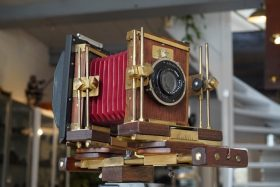 W. stacey 6×9 Mahogany and Brass technical camera