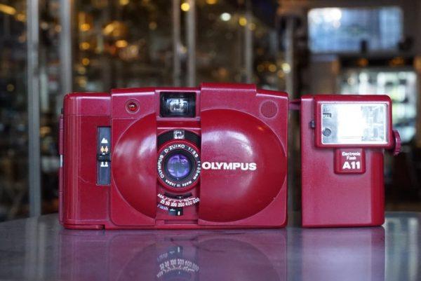 Olympus XA-2 in Red + Flash
