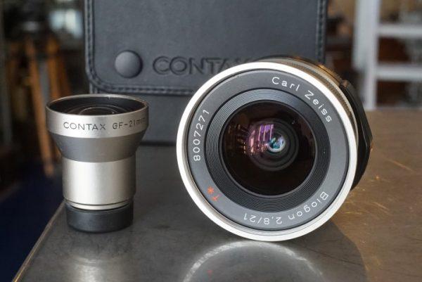 Contax Zeiss Biogon 2.8 / 21mm, For G2 + finder