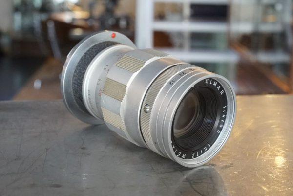 Leica Leitz Elmar 1:4 / 90mm M, 3 element version