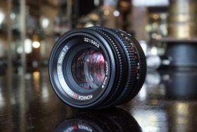 Konica M-Hexanon 50mm f/2, Leica M