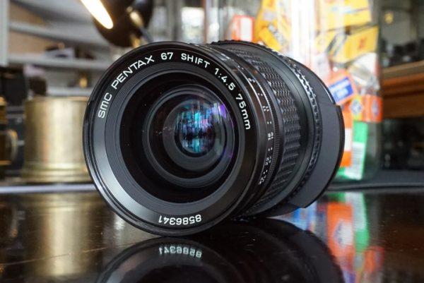 Pentax 67 SMC 75mm f/4.5 Shift lens