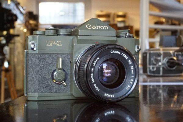 Canon OD-F1 (F-1n Olive Drab) + FD 28mm f/2.8