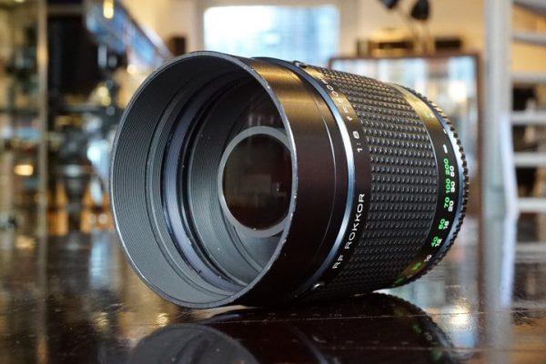 Minolta RF Rokkor 500mm f/8 Mirror lens