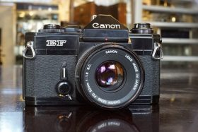 Canon EF + FD 50mm f/1.8 SC