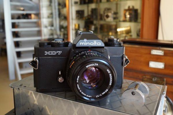 Minolta XD-7 Black + MD Rokkor 1.7 / 50mm