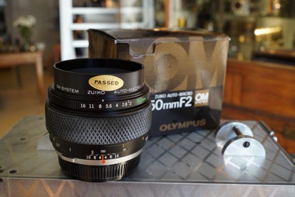 Olympus OM Zuiko 2.0 / 50mm, Macro, Boxed