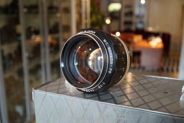 Minolta MC Rokkor 1.2 / 58mm lens