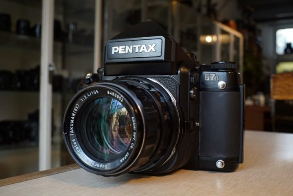 Pentax 67II + 1:2.4 / 105mm Takumar 6×7 lens
