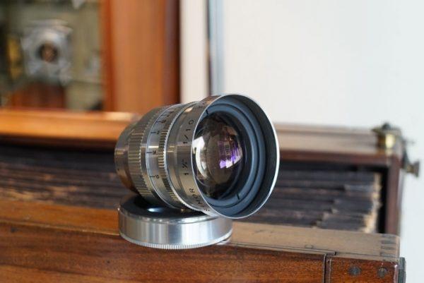 Simor f/1.0 / 1,5inch (38mm) lens. Fast D-mount lens