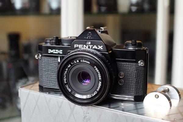 Pentax MX Black + Pentax-M 2.8 / 40mm