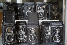 Collection of 10x Rollei pre war TLR cameras