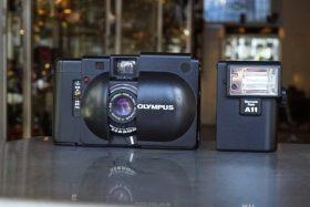 Olympus XA rangefinder + A11 flash