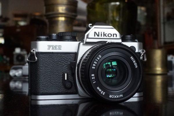 Nikon FM2n Chrome w/ 35mm f/2.8 AIS