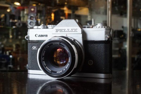 Canon Pellix QL chrome + FL 50mm f/1.8