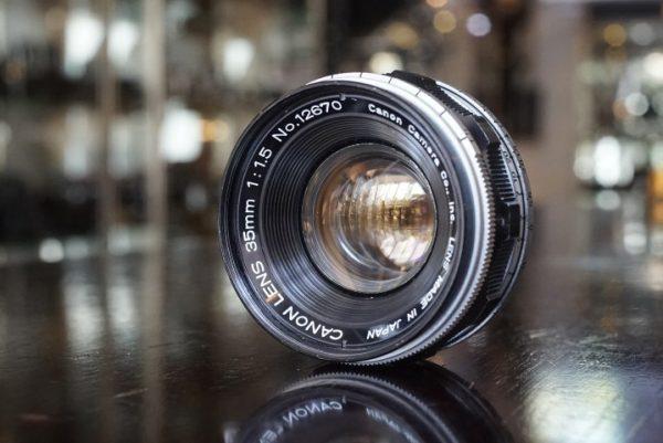 Canon 35mm f/1.5 Leica screw
