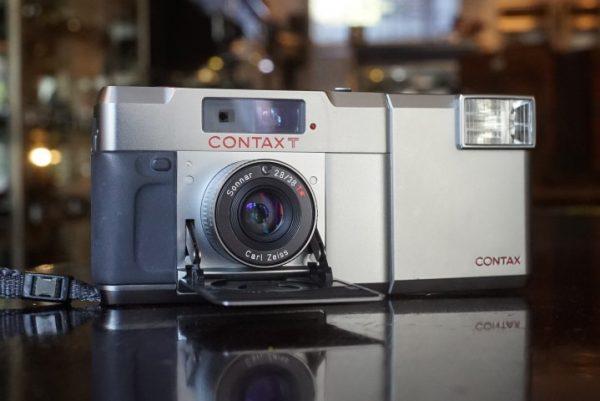 Contax T w/ Sonnar 38mm f/2.8 + Flash