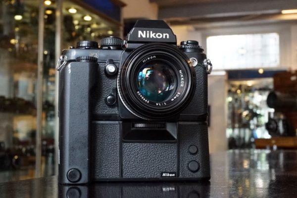 Nikon F3 + MD4 + Nikkor 50mm f/1.4 AI