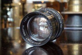 Kinoptik APO 1:2 / 75mm lens in M42 mount