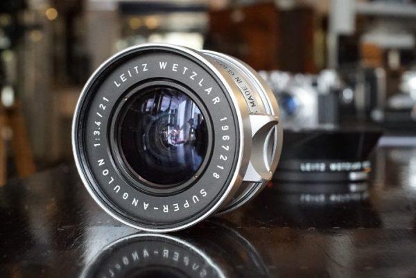 Leica Leitz Super Angulon 21mm f/3.4 + finder, BOXED