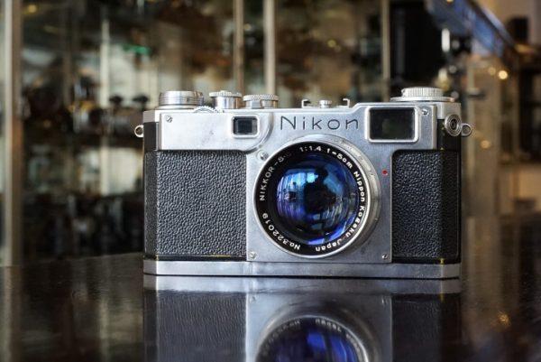 Nikon S2 + Nikkor-S-C 50mm f/1.4 Chrome