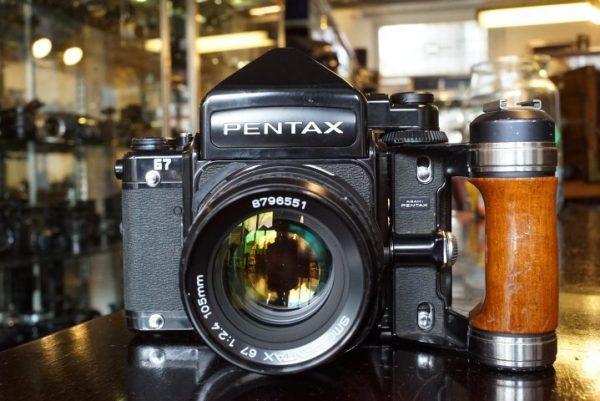 Pentax 67 + 2.4 / 105mm + metered prism