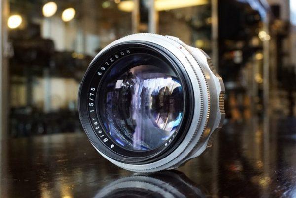 Carl Zeiss Jena Biotar 75mm f/1.5 for Exakta