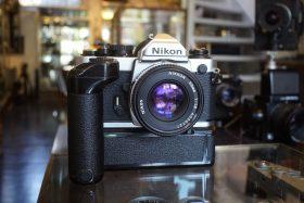 Nikon FM2n + MD12 + Nikkor 50mm f/1.8 AIS