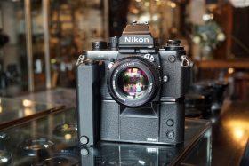 Nikon F3P + MD4+ Nikkor 50mm f/1.4 AI
