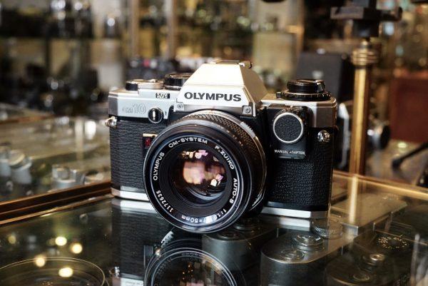 Olympus OM10 + OM 50mm f/1.8 + Manual adapter