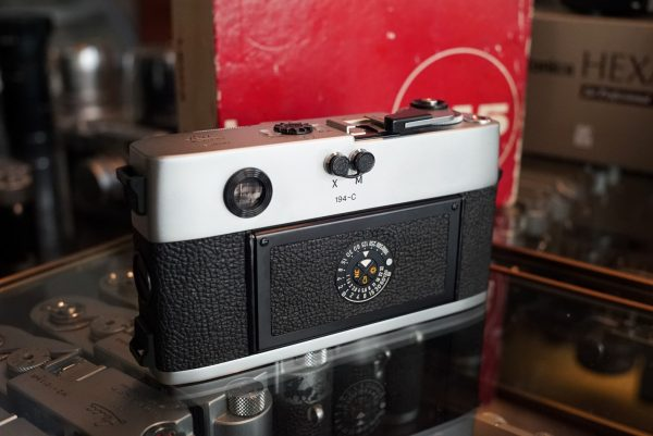 Leica M5 body Chrome 50 years. Boxed