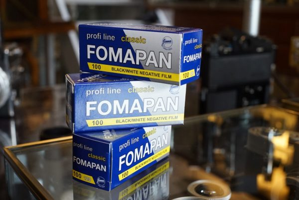 3-pack Foma Fomapan 100 classic 120 film