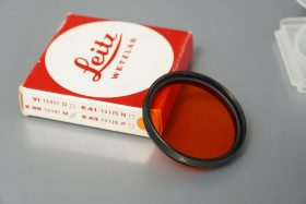Leica Leitz filter 13101 Orange , black ring, Boxed