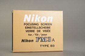 Nikon FM3a focusing screen type B3, Boxed