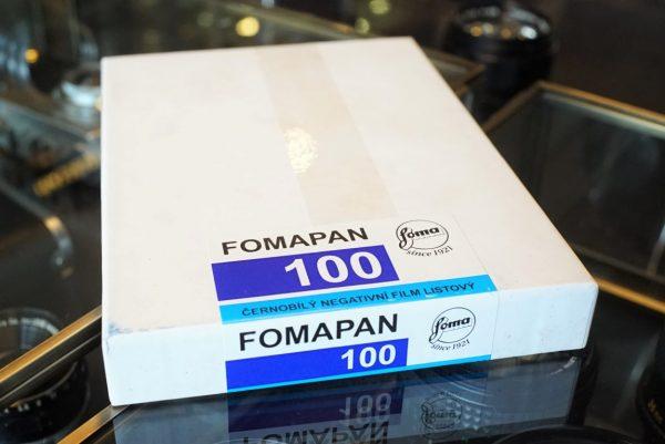 Foma Fomapan 100 , 4×5, 50sheets