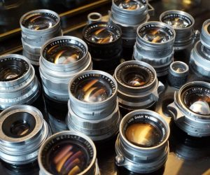 a collection of Leica Leitz wetzlar lenses