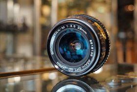 Pentax SMC-M 28mm f/3.5 PK lens