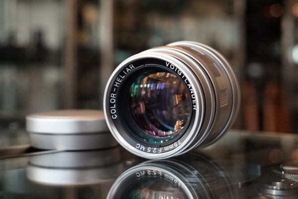 Voigtlander Color-Heliar 75mm f/2.5 MC LTM Boxed