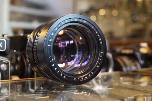 Leica Leitz Summicron-R 90mm f/2 lens 3-cam