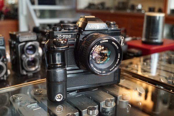 Minolta X700 + MC Rokkor 50mm f/1.7