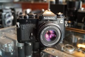 Nikon FE Black + E 50mm f/1.8 AIS