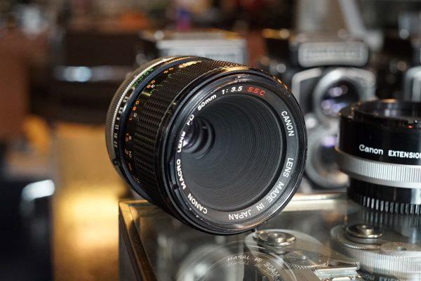 Canon FD 50mm f/3.5 Macro + FD-25 1:1 Tube