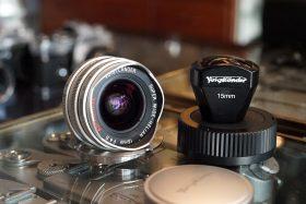 Voigtlander SW Heliar 15mm f/4.5 + Finder + LTM-M